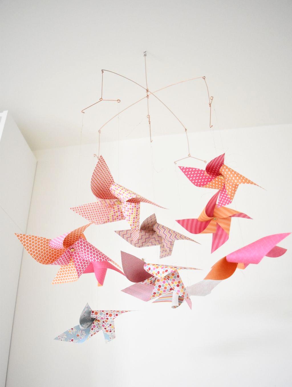 fabriquer mobile origami pour faire un mobile pour bb - Fabriquer Mobile Bebe Origami